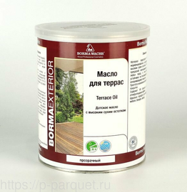 Цветное масло для террас Terrace Oil Borma Wachs 632 Темный орех 1л